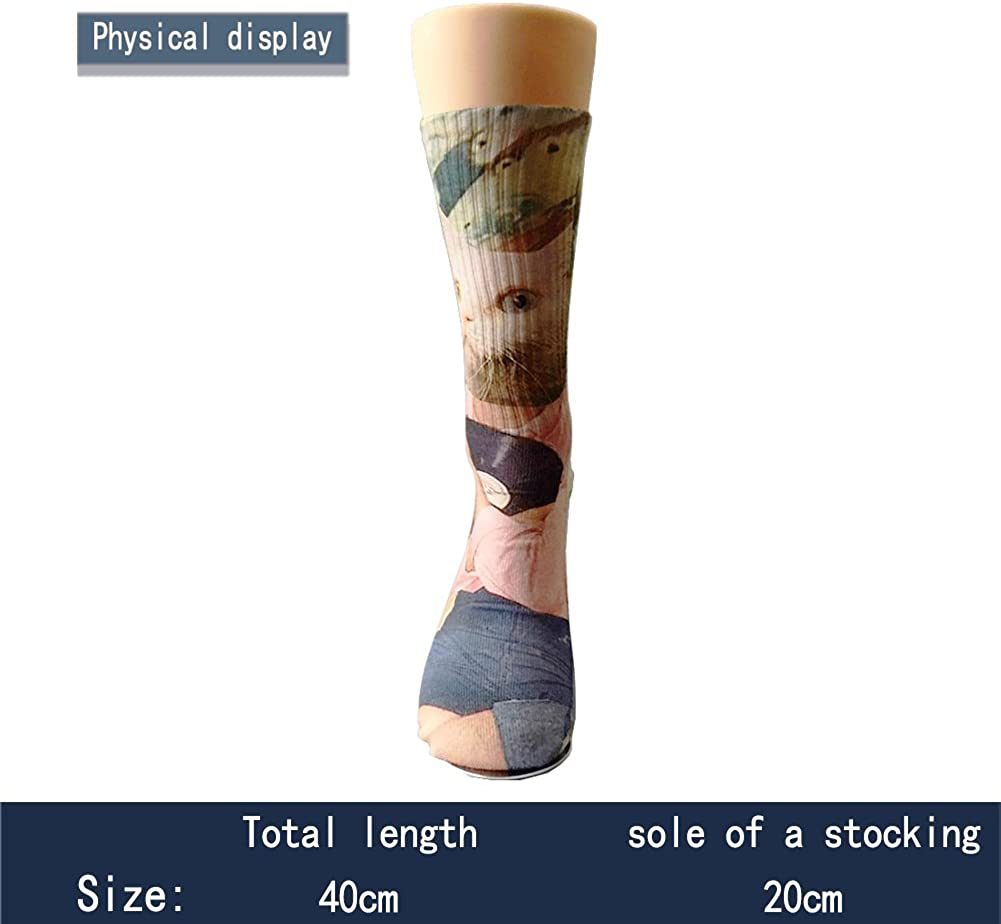 FUNINDIY Fashion Mens&Womens Premium Quality USA Thin Red Line Firefighter Axe High Athletic Socks Athletic Socks Sports Outdoor One Size