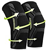 Elbow Brace Compression Sleeve for Men & Women (1 pair), Arm Support Sleeves Forearm Pain Relief Pads Braces for Tendonitis, Tennis & Golfers Elbow Treatment, Arthritis, Workout, Weight lifting