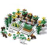 Tewerfitisme 349 piezas DIY Botanical Garden Bloques de construcción piezas pequeñas, ladrillo, juguetes técnicos, piezas de repuesto compatibles con Lego
