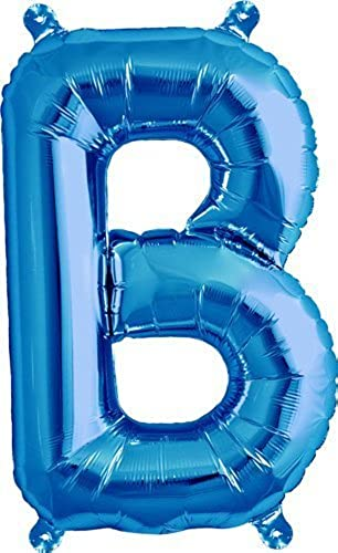 16 inch Letter B - Blau Air-Filled Foil Balloon by Northstar Balloons
