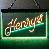 HGFDSA Henry Weinhard Root Beer Novelty LED Neon Sign Green + Yellow W12 x H8