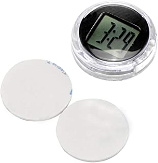 ONEVER Motorcycle Clock, Waterproof Stick-On Motorbike Mount Watch Digital Clock, 1.1