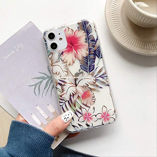 SSICA Leaf Flower Phone Case For iPhone 11 Pro Max X XR XS Max Hollow Plating IMD Case For iPhone 7 8 Plus Back Cover Fundas For iPhone 7 T4