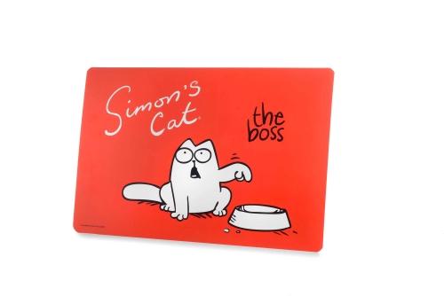Karlie Simon's Cat badmat, rood, 43 cm x 28 cm