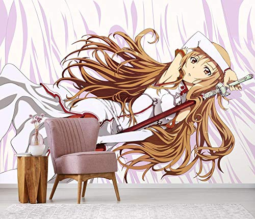 "WYH-YW Fototapeten 3D Anime Sword Art Online Mural Wohnzimmer Schlafzimmer Büro Flur Dekoration Wandbilder Moderne Wanddeko Wallpaper 79""x55""/200x140cm(W×H)"
