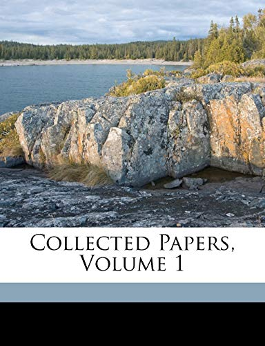 Ettingshausen, C: Collected Papers, Volume 1