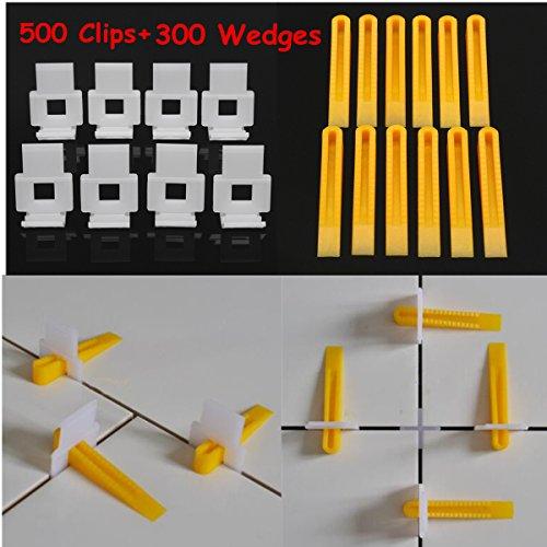 8-13mm Tegel Dikte 500 Stks Wit Clips + 300 Stks Geel Wedges Tegel Leveling Systeem
