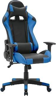 T-LoVendo TY-OC-RC1-BLUE Silla Gaming Oficina Racing Sillon