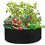 VKTY Cama de tela elevada para jardinera, 150 litros de tela redonda elevada con 6 etiquetas, juego de cama de plantación para zanahoria, cebolla, hierbas, flores, plantas vegetales