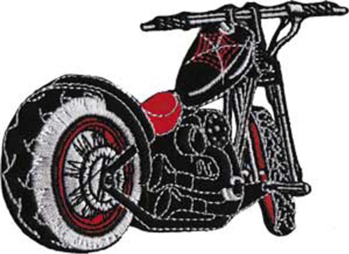 VINTAGE MOTORCYCLE Soder Web Cycle Patch pièce Car Iron-On / Sew-On HOT ROD Officially Licensed Car & Bike Culture Artwork Création, 2.5\