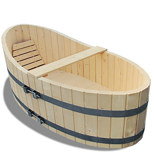 Holz Badewanne Badezuber 178x87cm inkl. Ablaufhahn