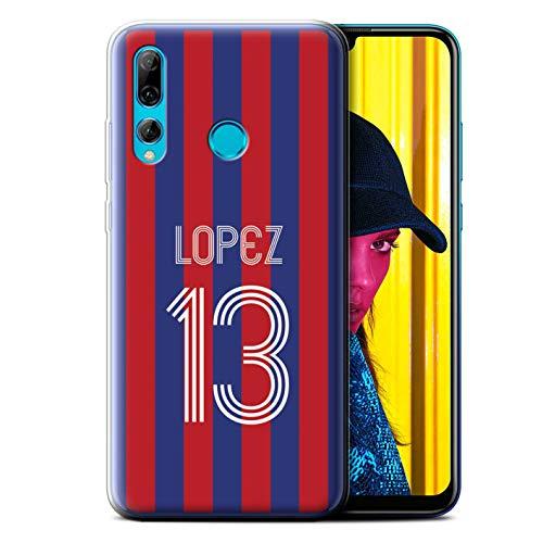 eSwish Personalizado Kit Camiseta Club Fútbol Euro Personalizar Funda TPU/Gel para el Huawei P Smart+ 2019/Honor 20 Lite/Carmín Azul...