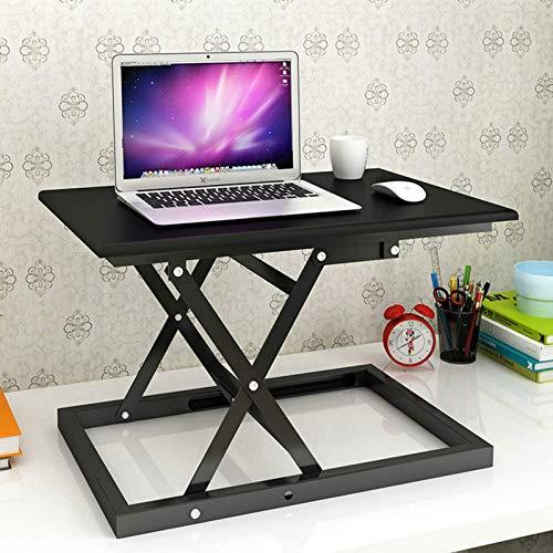 FGDSA Escritorio de pie ajustableEscritorio de computadora de pie elevable Simple Escritorio Plegable para portátil Escritorio de Escritorio para el hogar Convertidor de Escritorio de pie y Sentado