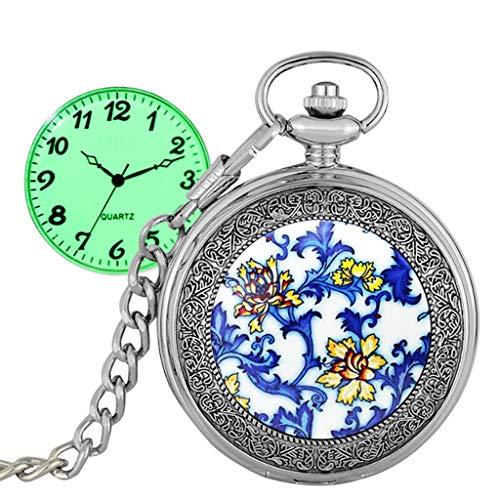 WTianang Retro Clamshell Horloge Quartz Pocket Horloge Mannen En Vrouwen Kinderen Lichtgevende Collectie Antieke Tafel Ketting