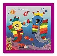 [海馬] 2PCS -Creative赤ちゃんのDIYロープペースト絵画