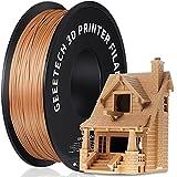 GEEETECH PLA 3D Printer Filament, 1kg Spool (2.2lbs), 1.75mm Dimensional Accuracy +/- 0.03mm, Wood