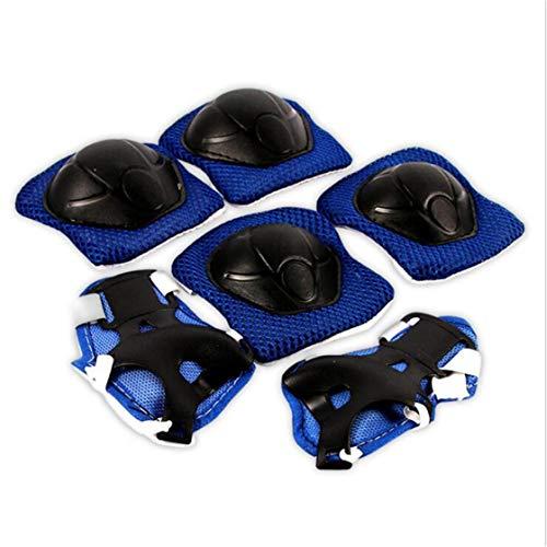QQWA 6 Stks Kinderen / Jeugd Kniebeschermers Sets, Beschermende Uitrusting Knie Elleboogbeschermers, Gebruikt Voor…