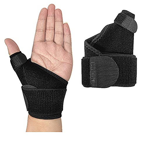 NuCamper Wrist Brace with Thumb Spica Splint for Carpal Tunnel,Wrist Stabilizer Trigger Splint with Compression Strap for Men and Women Fit Left Right Hand, Support for Injuries Sprains, Arthritis,Pain Relief