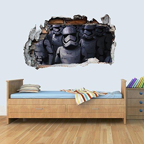 GNG Starwars Storm Trooper Smashed Wandtattoo Poster 3D Kunst Aufkleber Vinyl Zimmer L