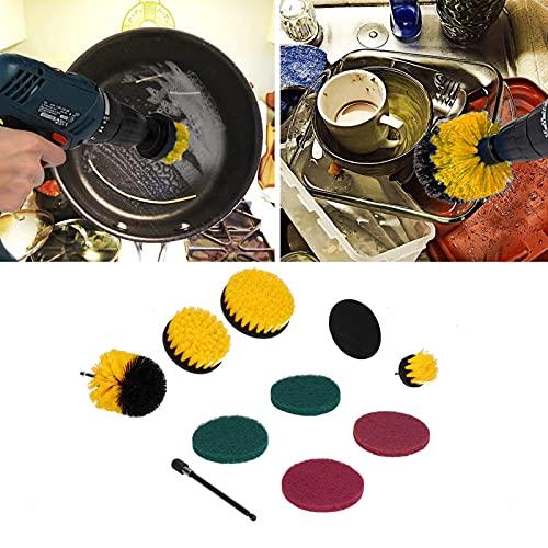 LIKJ Kit de Cepillo de Taladro, depurador de Potencia Fuerte Que no se daña fácilmente para Limpiar Azulejos de Piscina para Limpieza del hogar para alfombras