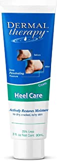Dermal Therapy Foot Cream for Dry Cracked Feet - Urea Cream, Foot Lotion, Heel Cream, and Humectant Moisturizer with Alpha Hydroxy Acids, 3oz