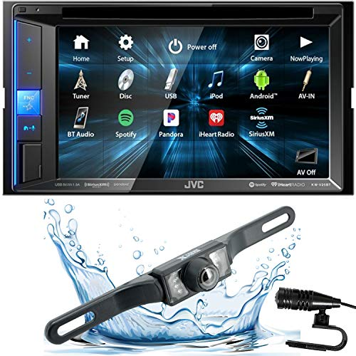 "JVC KW-V25BT Double DIN in-Dash Bluetooth CD/DVD/AM/FM/Digital Media Car Stereo Receiver w/ 6.2"" Touchscreen, Pandora, Spotify and iHeartRadio Control + HD Backup Camera"