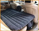 M.J.INTERNATIONAL Multifunctional Fabric Inflatable Car Mattress with 2 Pillows, Air Pump and Repair Kit (Standard Size, Black)