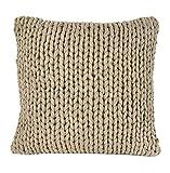 Nielsen Kissenbezug Marlin grob gestrickt, 50x50 cm, Sand, 100% Baumwolle, Strick, Ökotex,...