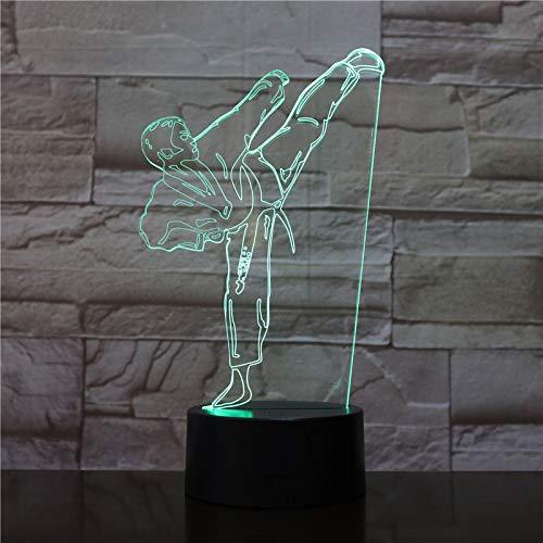 Ilusión luz Nocturna 3D Karate Judo lámpara Escritorio