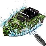 CARACHOME Barco RC, Barco cebador Pesca de 2,4 GHz, Lancha rápida RC con luz LED y cámara de Cebo Juguete de Pesca para Regalos de Pesca Hombres,B