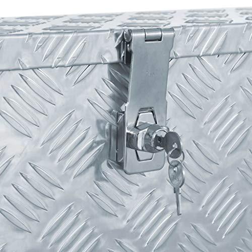 vidaXL Aluminiumkiste 80,5x22x22cm Alu Box Koffer Werkzeugbox Transportkiste - 6