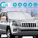 RIFNY Windshield Snow Cover,Upgrade Version Windshield Snow Ice Cover with 5 Layers Protection, for Ice,Snow,Frost,Sun Protection,Fits Most Cars Trucks Vans and SUVs