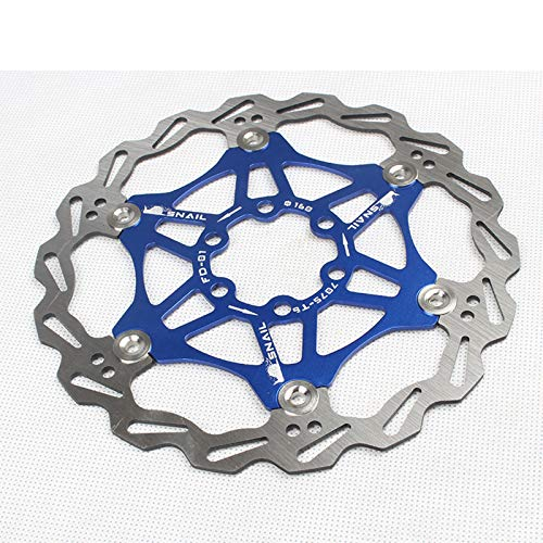 AOUVIK Rotor de Freno de Disco Flotante, Accesorio de Bicicleta de montaña de 160/203 Mm, ventilación rápida, Buena dispersión de Calor, para Bicicleta de Carretera, Bicicleta de montaña,Azul,160mm