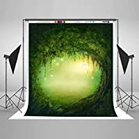 新しい5×7ft1.5×2.1m春のマイクロファイバー春の写真の背景緑の写真の背景木の穴の写真の背景スタジオの子供の背景