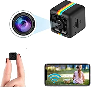 Mini Camera WiFi Wireless Camera Nanny Cam, 1080p / 2K HD Camera Home Security Camera,Night Vision Indoor/Outdoor Small Camera Record Dog Pet Camera for Mobile Phone Applications in Real Time