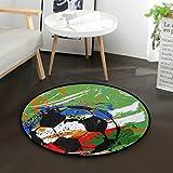 MNSRUU Fußball, rund, rutschfest, bequem, rund, für Wohnzimmer, Schlafzimmer, 92 cm Durchmesser