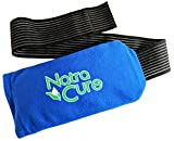 NatraCure Universal Cold Pack Ice Wrap – 1 Ice Pack Compress w/ 1 Sleeve - 5' x 10' Pouch, Holder with 24'...