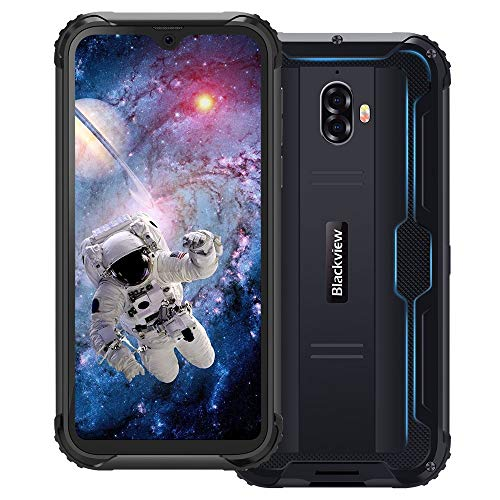 "Blackview BV5900 Movil Resistente 3GB + 32GB Android 9.0 Dual SIM 4G Smartphone con Pantalla 5.7"" HD+IPS, 13MP/0.3MP + 5MP, 5580mAh Batería, MT6761, Telefono IP68 Impermeable, NFC/Face ID/GPS- Negro"