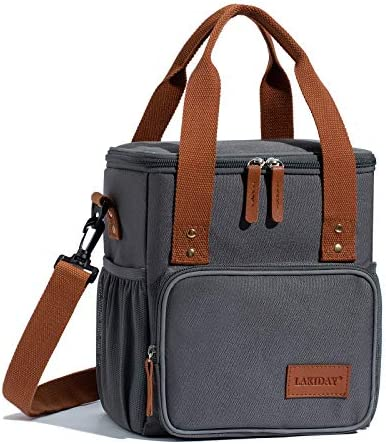 LAKIDAY Insulated Lunch Bag for Women Men Kids Reusable Lunch Tote Box Container with Adjustable product image