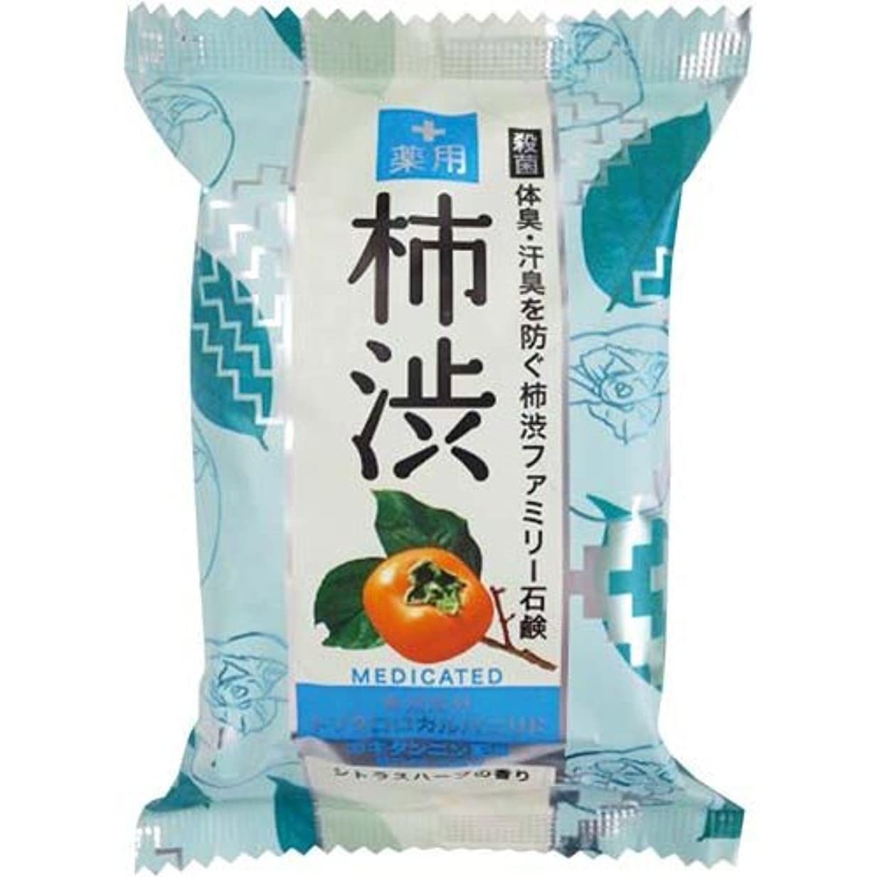 工業用差別するフリースペリカン石鹸 薬用ファミリー柿渋石鹸×6個×4箱