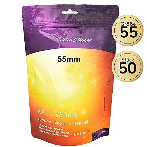 AMOR Vibratissimo 55mm Markenkondome XXL-Kondome, 50 Stück, naturfarben