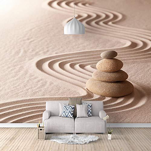 Mural Papel Tapiz Fotográfico Personalizado Estilo Moderno 3D Piedra Zen De Pared Grande Adecuado Para Dormitorio Hotel Tv Sofá Fondo Decoración,250Cm(W) X175Cm(H)-5 Rayas