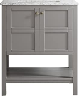 Best 30 inch white bathroom vanity without top Reviews