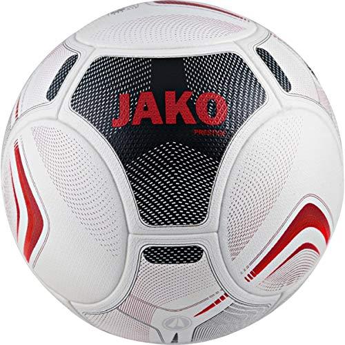 JAKO Spielball Prestige Fußbälle, weiß/Schwarz/Rot, 5