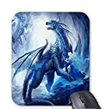 Blue Water Dragon Queen Mouse pad 7x8.66 inch