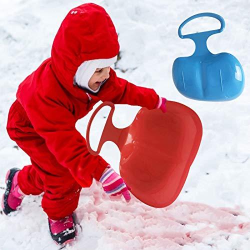 Kunststoffschlitten| 2 Stücke Speed Schneeschlitten| Leichter Sport-Schneeschieber, Schlitten & Rodeln, Langlebiger Leichtgewicht-Schlitten-Rodel, Mit Griff, Ski-Fun-Board Für Kinder Für Erwachsene
