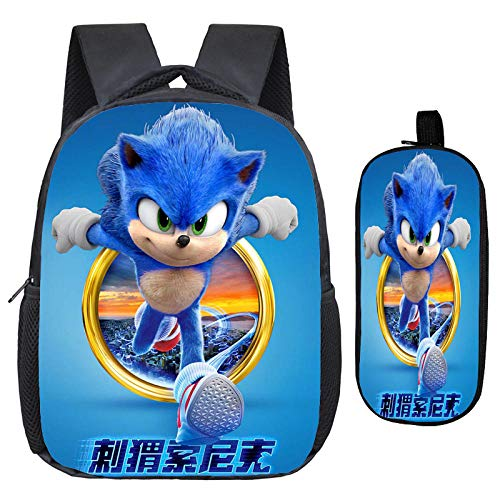 New Bookbag Sonic Mini Backpack Morral School Bags for Girls Boy Toddler Small Kids Backpack with Pencil Case 15