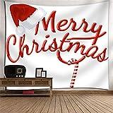 DHHY Tapiz de Poliéster de Impresión 3D, Tapiz de Tapiz de Impresión Digital de La Serie de Muñeco de Nieve de Navidad, Tapiz de decoración del Hogar de Navidad