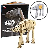 Star Wars Imperial Walker 3D Wood Puzzle & Model Figure Kit (62 Pcs) - Build & Paint Your Own 3-D Movie Toy - Holiday Educational Gift for Kids & Adults, No Glue Required, 12+