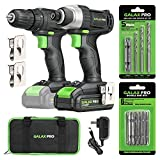 20V Max 2 speeds Drill Driver and Impact Driver Combo Kit, GALAX PRO Cordless Drill Driver/Impact...